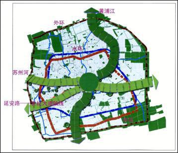 手绘绿地入口平面图